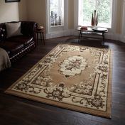 Marrakesh Beige Traditional Runner By Think Rugs