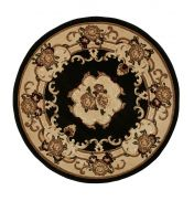Marrakesh Black Circle Traditional Rug By Think Rugs
