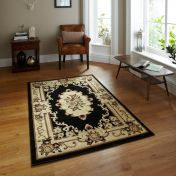 Think Rugs Marrakesh Black Circle Traditional Rug