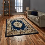 Marrakesh Dark Blue Traditional Rug By Think Rugs