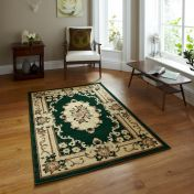 Think Rugs Marrakesh Dark Green Traditional Runner