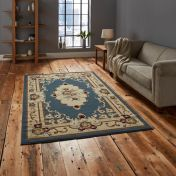 Marrakesh Light Blue Traditional Rug By Think Rugs