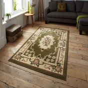 Think Rugs Marrakesh Light Green Circle Traditional Rug