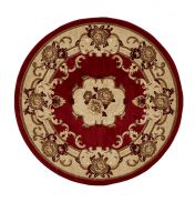 Marrakesh Red Circle Traditional Rug By Think Rugs