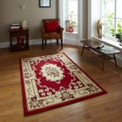 Think Rugs Marrakesh Red Circle Traditional Rug