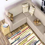 Royal Marrakech 2266a Cream Shaggy Rug by Mastercraft