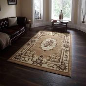 Think Rugs Marrakesh Beige Traditional Rug