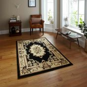 Think Rugs Marrakesh Black Traditional Rug