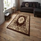 Think Rugs Marrakesh Brown Traditional Rug