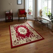 Think Rugs Marrakesh Red Traditional Rug