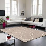 Matrix Cassin MAX11 Cassin Beige Wool Rug by Asiatic