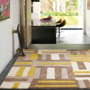 Matrix Code & Kaya MAX17 Code Yellow Wool Rug by Asiatic