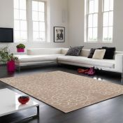 Matrix Crochet MAX18 Crochet Beige Floral Wool Rug by Asiatic
