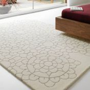 Matrix Crochet MAX19 Crochet Cream Floral Wool Rug by Asiatic