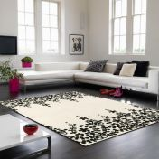 Matrix Guild MAX06 Guild White Floral Wool Rug by Asiatic