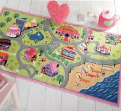 Matrix Kiddy Girls World Graphics Rug By Flair Rugs