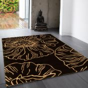 Matrix Liberty MAX02 Liberty Black Floral Wool Rug by Asiatic