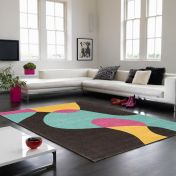 Matrix MAX52 Arc Bubblegum Wool Rug By Asiatic