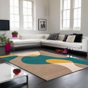 Matrix MAX54 Arc Taupe Wool Rug By Asiatic