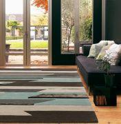 Matrix MAX63 Rhombus Blue Wool Rug by Asiatic
