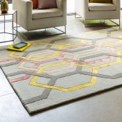 Matrix MAX67 Hexagon Silver Wool Rug by Asiatic