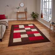 Matrix MT04 Brown/Red Rug by Think Rugs