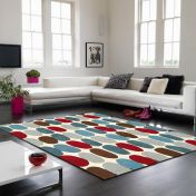 Matrix Sofia MAX33 Sofia Red Teal Wool Rug by Asiatic