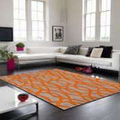 Matrix Wire MAX37 Orange Wool Rug by Asiatic