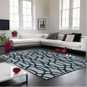 Matrix Wire MAX36 Blue Wool Runner by Asiatic