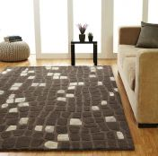 Unique Matrix Abstract Design Wool Rug by Prestige