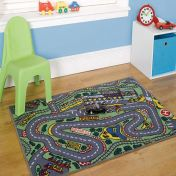 Matrix Kiddy Formula One Graphics Rug By Flair Rugs