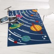 Matrix Kiddy Planets Graphics Rug By Flair Rugs