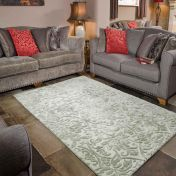 Mayfair Dorchester Grey Luxmi Wool Rug by Flair Rugs