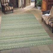 Brighton 098 0570 5027 99 Green Cream Striped Rug By Mastercraft