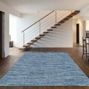 Strata 015 0002 4282 Blue Abstract Rug by Mastercraft
