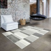 Skald 49005/6262 Cream Grey Modern Rug by Mastercraft