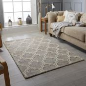 Medina Beige Wool Rug by Oriental Weavers