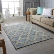Medina Blue Wool Rug by Oriental Weavers