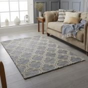 Medina Grey Wool Rug by Oriental Weavers