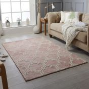 Medina Pink Wool Rug by Oriental Weavers