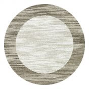 Mehari 023 0042 6878 Beige Bordered Circle Rug by Mastercraft