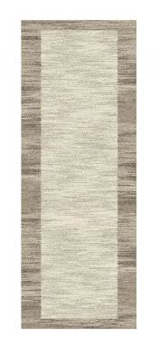 Mehari 023 0042 6878 Beige Bordered Runner by Mastercraft