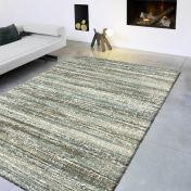 Mehari 023 0094 6959 Blue Beige Mix Abstract Rug by Mastercraft