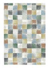 Mehari 023 0245 6656 Cream Chequered Circle Rug by Mastercraft