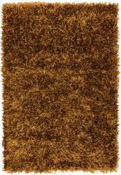 Metallica Bronze Polyester Rug by Asiatic