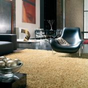 Metallica Gold Polyester Rug by Asiatic