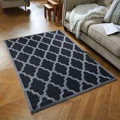 Moda Flatweave Trellis Black Rug by Oriental Weavers