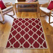 Moda Flatweave Trellis Red Rug by Oriental Weavers
