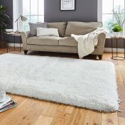 Think Rugs Montana Ivory Plain Shaggy Rug