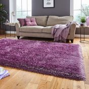 Think Rugs Montana Lilac Plain Shaggy Rug